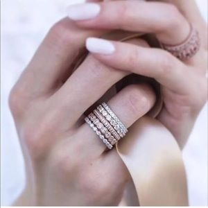 Jewelry - 😍💎 GORGEOUS Rose Gold Silver Stacking Rings 5